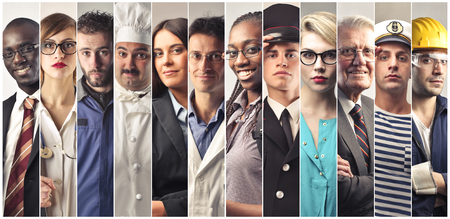 Photo for Twelve twelve different people different professions - Royalty Free Image