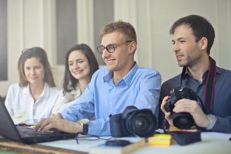 Photo pour A good team During Work - image libre de droit