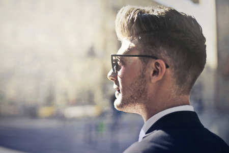 Foto de Businessman even sunglasses - Imagen libre de derechos