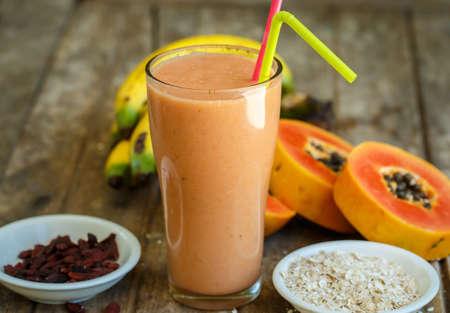 Photo for Papaya smoothie - Royalty Free Image