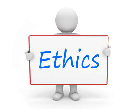 Photo for man write ethics - Royalty Free Image