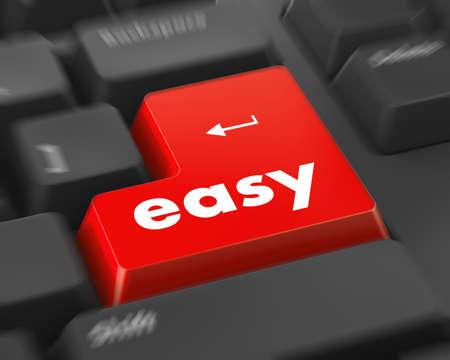 Photo pour keyboard with easy button - image libre de droit