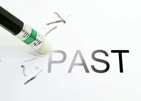 Photo pour Pencil Eraser  Erase past text - image libre de droit