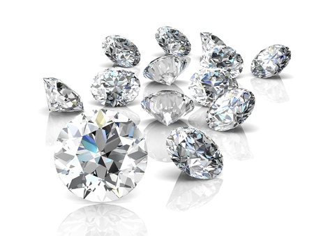Foto de diamond jewel (high resolution 3D image) - Imagen libre de derechos