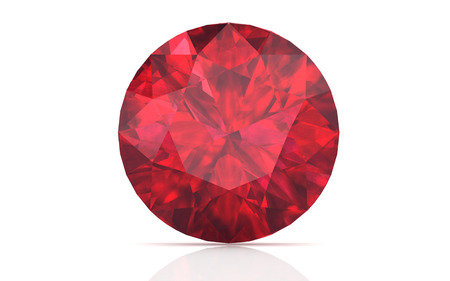 Photo for ruby ,Citrine on white background (high resolution 3D image) - Royalty Free Image