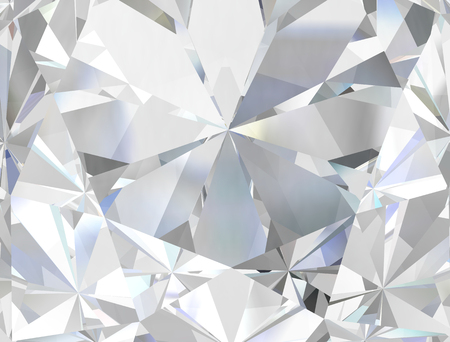 Photo for Realistic diamond texture close up, 3D illustration. - Royalty Free Image