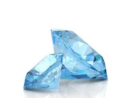 Photo pour Aquamarine jewel (high resolution 3D image) - image libre de droit