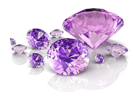 Photo pour amethyst jewel ((high resolution 3D image) - image libre de droit