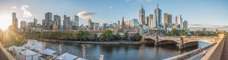 Foto de Melbourne city with panorama view, Australia. - Imagen libre de derechos