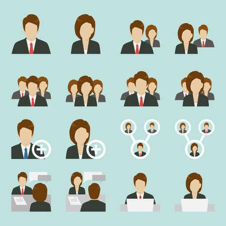 Ilustración de Office people icons design, vector - Imagen libre de derechos