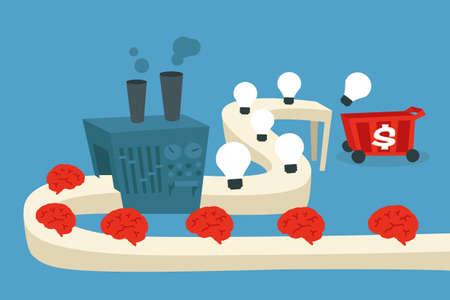 Ilustración de idea factory - Imagen libre de derechos