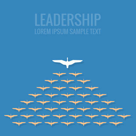 Illustration for leadership concept flat design - Royalty Free Image