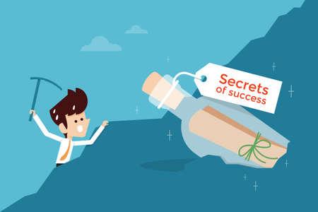 Illustration pour secret of success flat design business concept - image libre de droit