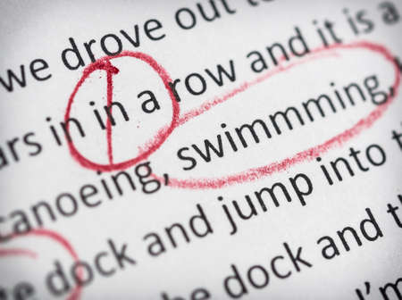 Photo for Circled spelling mistakes - Royalty Free Image
