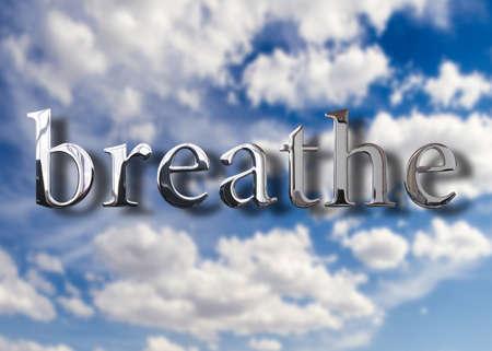 Photo pour Breathe fresh air - image libre de droit
