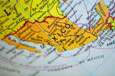 Photo pour Mexico map - image libre de droit