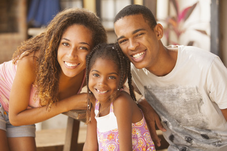 Photo for Happy african american family smiling - Royalty Free Image