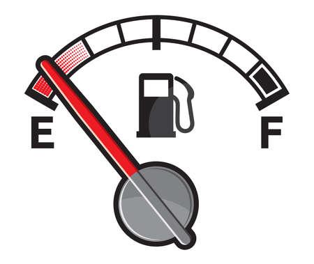 Illustration pour Empty gas tank - image libre de droit