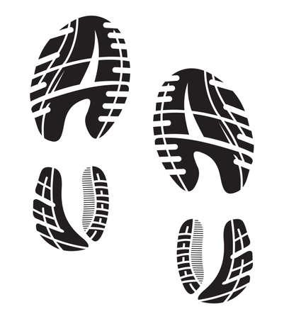 Ilustración de imprint soles shoes - sneakers - Imagen libre de derechos