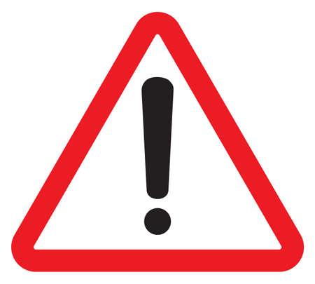 Illustration pour attention sign with exclamation mark symbol - image libre de droit