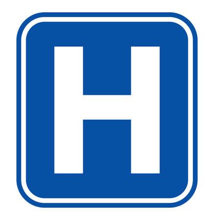 Ilustración de Hospital sign - Imagen libre de derechos