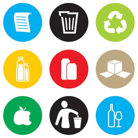 Ilustración de Recycling icon set - Imagen libre de derechos