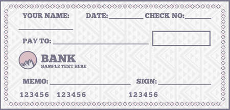 Illustration for Blank check - Royalty Free Image