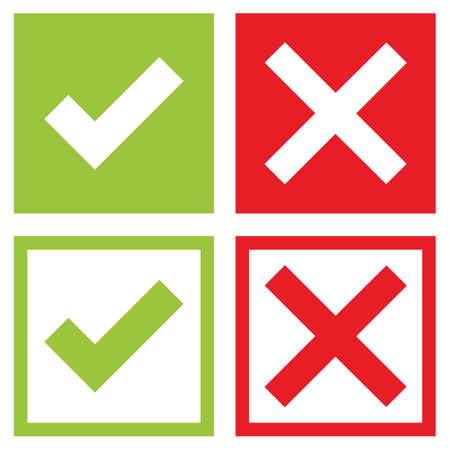Illustration pour Check mark stickers - image libre de droit