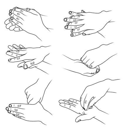 Illustration pour Hands washing - image libre de droit