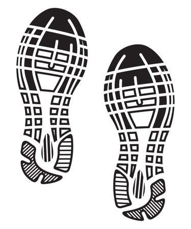 Illustration pour imprint soles shoes - sneakers - image libre de droit