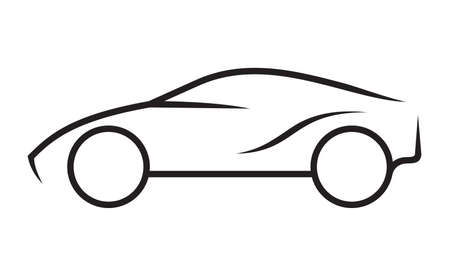 Illustration for Car line art - Royalty Free Image