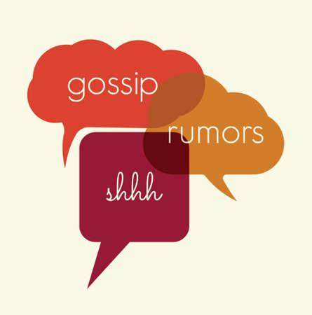 Illustration pour Speak bubbles gossip, rumors - image libre de droit