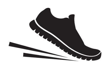 Ilustración de Running shoes icon - Imagen libre de derechos