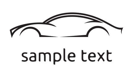 Ilustración de Car vector silhouette card - Imagen libre de derechos