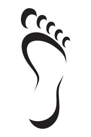 Ilustración de foot symbol - Imagen libre de derechos