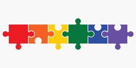 Illustration pour Lgbt puzzle concept - image libre de droit