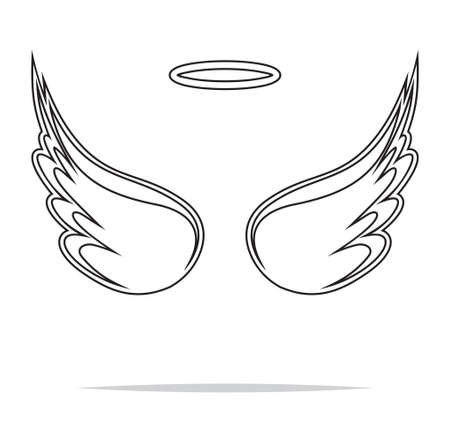Illustration for Angel wings vector illustration - Royalty Free Image