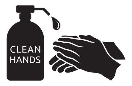 Ilustración de Clean hands vector illustration - Imagen libre de derechos