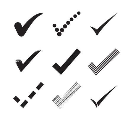 Illustration pour Check marks - image libre de droit