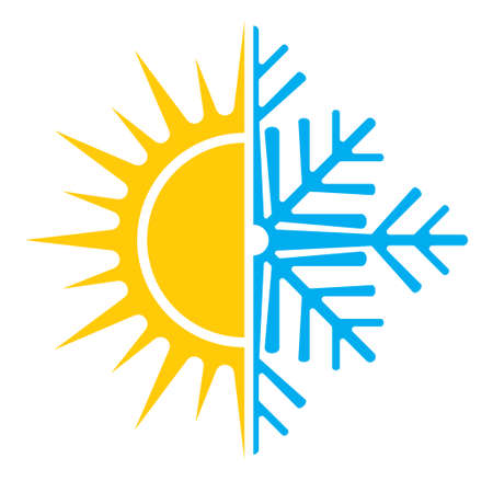 Illustration pour Air conditioning vector icon  summer winter - image libre de droit