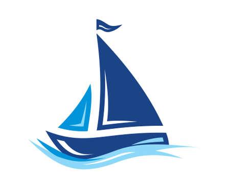 Ilustración de Sailing Boat vector icon - Imagen libre de derechos