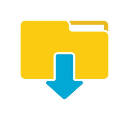 Illustration pour Download folder icon - image libre de droit