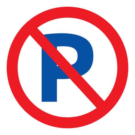 Illustration pour No parking vector sign - image libre de droit
