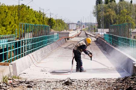 Foto de blasting of concrete, note shallow depth of field - Imagen libre de derechos