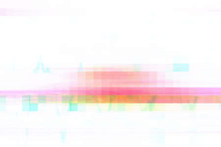 Foto de Glitch digital screen pattern white background noise,  texture. - Imagen libre de derechos