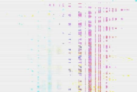 Foto de Glitch digital screen pattern white background noise,  light modern. - Imagen libre de derechos