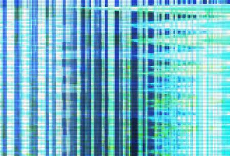 Foto de Abstract glitch artifact turquoise technology vhs background,  noise digital. - Imagen libre de derechos
