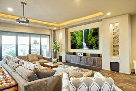 Entertainment Room and Living Room in Luxury Home