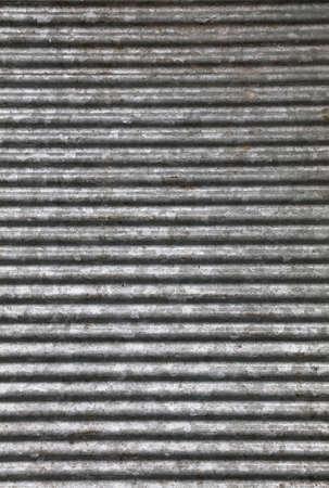 Foto de Corrugated goffered gray galvanized metal sheet background texture (washboard, skiffle board) - Imagen libre de derechos