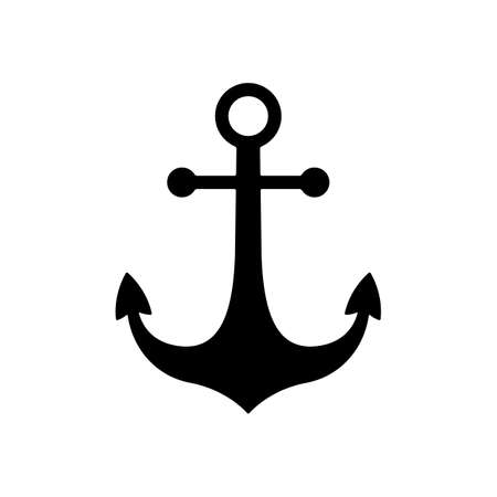 Illustration pour black nautical anchor icon. anchor symbol or sign. isolated on white background. vector illustration - image libre de droit